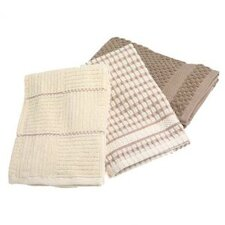 Bardwil Popcorn Kitchen Towel in Taupe (Set of 3)