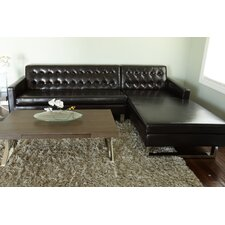 Nolan Faux Leather Right Arm Sectional