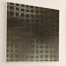 Woven Gold Stitch #3 Framed Graphic Art