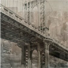 Brooklyn Bridge Graphic Art on Canvas
