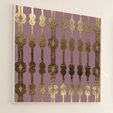 Woven Luxe Knot Framed Graphic Art