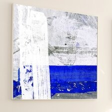 Abstract Stripped Down Framed Painting Print