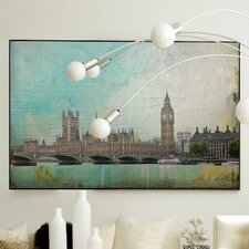 Architecture London Calling Framed Graphic Art