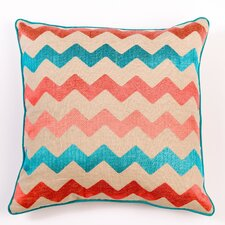 Ikat and Suzani All Chevron Pillow