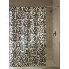 Ikat Plume Polyester Shower Curtain