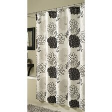 Summer Garden Microfiber Polyester Shower Curtain