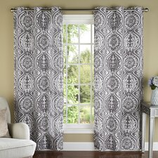 York Luxury Window Grommet Curtain Panel (Set of 2)