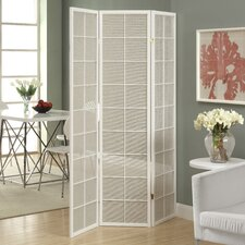 "<strong>Monarch Specialties Inc.</strong> 70.25"" x 52"" 3 Panel Folding Room Divider"