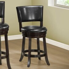 "39"" Swivel Bar Stool with Cushion (Set of 2)"