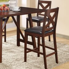 Bar Stool with Cushion (Set of 2)