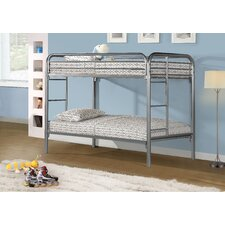 Twin Bunk Bed with Metal Ladders