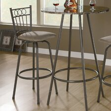 "29"" Slat Back Swivel Barstool (Set of 2)"