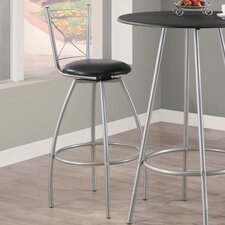 "29"" X Back Swivel Barstool (Set of 2)"