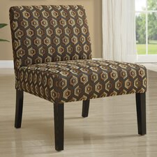 Diamondback Pattern Fabric Slipper Chair