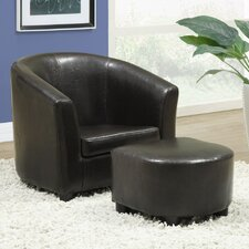 Youth Chair and Ottoman Set