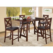 <strong>Monarch Specialties Inc.</strong> 5 Piece Dining Set Counter Height Dining Set