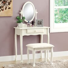 <strong>Monarch Specialties Inc.</strong> Vanity Set with Mirror