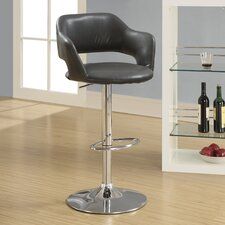 "<strong>Monarch Specialties Inc.</strong> Hydraulic 26"" Bar Stool with Cushion"