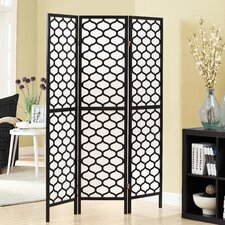 "71"" x 54"" Frame Lantern Design Folding 3 Panel Room Divider"