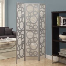 "71"" x 54"" Frame Bubble Design Folding 3 Panel Room Divider"