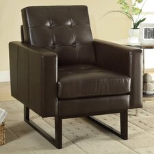 <strong>Monarch Specialties Inc.</strong> Bonded Leather Match Arm Chair