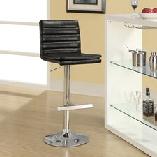 "25.5"" Adjustable Bar Stool with Cushion (Set of 2)"