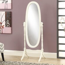Solid Wood Oval Cheval Mirror