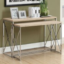 <strong>Monarch Specialties Inc.</strong> 2 Piece Nesting Console Table
