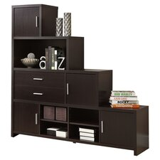"<strong>Monarch Specialties Inc.</strong> Facing Step 63"" Bookcase"