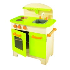 Gourmet Chef Kitchen in Green