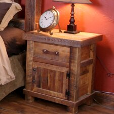 Black Mountain One Drawer Nightstand with Door