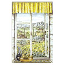 <strong>Stupell Industries</strong> Provence with Pears Wooden Faux Window Scene