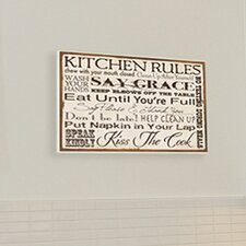 Home Décor Kitchen Rules Textual Art Plaque