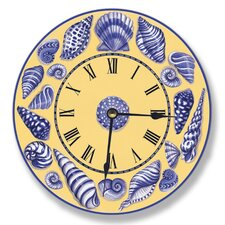 "Home Décor 12"" Shell Wall Clock"