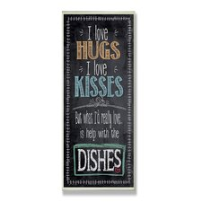 Home Décor I Love Help with the Dishes Kitchen Textual Art Plaque