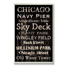 <strong>Stupell Industries</strong> Home Décor Chicago Cities and Words Rectangle Wall Plaque