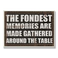 Home Décor The Fondest Memories Kitchen Textual Art Plaque