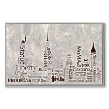 <strong>Stupell Industries</strong> Home Décor NYC City Skyline Typography Wall Plaque