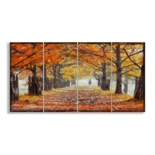 Home Décor A Walk Through the Autumn Trees Canvas Triptych Wall Art (Set of 4)