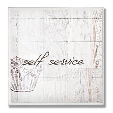 Home Décor Self Service Laundry Bath Wall Plaque