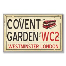<strong>Stupell Industries</strong> Home Décor Covent Garden WC2 Railroad Wall Plaque