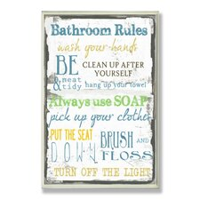 Home Décor Bathroom Typography Rectangle Wall Plaque
