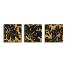 Home Décor Floral Print 3 Piece Graphic Art on Canvas Set