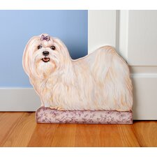 <strong>Stupell Industries</strong> Maltese Wooden Decorative Dog Doorstop