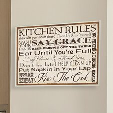 Kitchen Rules Typography Wall Plaque