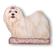Maltese Decorative Dog Door Stop