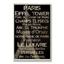 <strong>Stupell Industries</strong> Paris New York and London Cities and Words Home Office Wall Plaque (Set of 3)