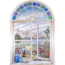 <strong>Stupell Industries</strong> Stained Glass Wooden Faux Window Scene