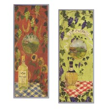 Bottles of Chianti and Pinot Grigio Oversized Kitchen Wall Plaque Set