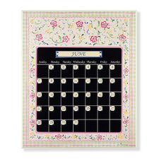 <strong>Stupell Industries</strong> Whimsical Flower Magnetic Tile Perpetual Calendar